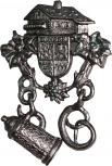 Anstecknadel - Metall - Pin - Bayern Landhaus - 02670 - Gr. ca. 3,2cm x 4,4cm