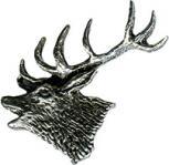 Anstecknadel - Metall - Pin - Hirsch Seitenansicht - 02730 - Gr. ca. 3,5 x 3,8 cm