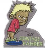 Aufnäher - Pinkelmännchen - Sonntagsfahrer - 02981 - Gr. ca. 9cm x 10cm