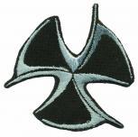 Aufnäher - Wikinger Symbol  - 03087 - Gr. ca. 6cm x 6cm - Patches Stick Applikation