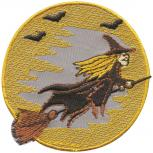 Aufnäher - Fliegende Hexe - 03159 - Gr. ca. 7,5 cm - Patches Stick Applikation