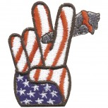 Aufnäher - USA Peace - 03164 - Gr. ca. 6 x 6,5 cm - Patches Stick Applikation