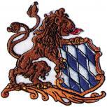Aufnäher - BAYERN - LÖWE - RAUTENWAPPEN - 03206 - Gr. ca. 9cm x 8,5cm