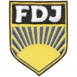 AUFNÄHER - DDR - FDJ - 04195 - Gr. ca. 6,5 x 8,5 cm - Patches Stick Applikation