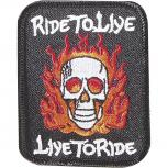 Aufnäher - Ride to Live - 04204 - Gr. ca. 8,5 x 6,5 cm - Patches Stick Applikation