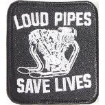 Aufnäher - Loud Pipes - 04208 - Gr. ca. 7,5 x 8 cm - Patches Stick Application