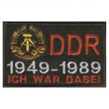 AUFNÄHER - DDR - Ich war dabei - 04389 - Gr. ca. 9 x 5,5 cm - Patches Stick Applikation