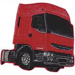 Aufnäher - Truck rot - 04412 - Gr. ca. 7,5 x 7 cm - Patches Stick Applikation