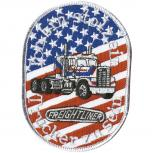 Aufnäher - Truck Stars and Stripes - 04465 - Gr. ca. 11 x 7,5 cm - Patches Stick Applikation