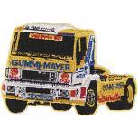 """AUFNÄHER """"Truck gelb"""" NEU Gr. ca. 9cm x 6,5cm (04591) Stick Patches Applikation Trucker LKW Lastwagen"""