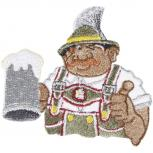 Aufnäher - Bayer Bierglas Wiesn - 04728 - Gr. ca. 8,5cm x 7,5cm