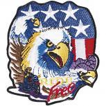 Aufnäher  - USA Adler - RIDE FREE - 04766 - Gr. ca. 10 x 8,5 cm - Patches Stick Application