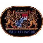 Aufnäher - Bayern Wappen - 04990 schwarz - Gr. ca. 10cm x 8cm