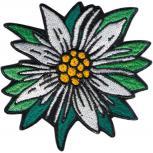 Aufnäher - Edelweißblüte - 04993 - Gr. ca. 9 x 8,5 cm - Patches Stick Applikation