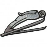 Aufnäher Applikation - Skispringer - 04033 - Gr. ca. 8,5cm x 3,5cm