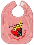Baby-Lätzchen mit Druckmotiv  - Bald werd´ ich ein.... - 07084 - rosa