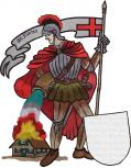Rückenaufnäher große Applikation - 07512 - Gr.  ca. 34 x 38 cm - Stick Emblem Feuerwehr St. Florian