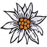Rücken-Aufnäher - Edelweißblüte Blume - 07338 - Gr. ca. 19,5cm x 17cm