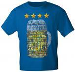 T-Shirt mit Print - Oktoberfest - Maßkrug - 09051 blau - Gr. S-XXL