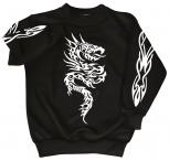 "(09067) Sweater- Sweatshirt UNISEX mit Motivdruck ""Tattoo "" S-XXL in 3 Farben"