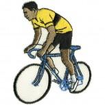 Aufnäher Applikation - Bike Fahrrad gelbes Trikot - 04031 - Gr. ca. 5,5cm x 7,5cm