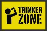 Fußmatte mit Print – Trinker Zone - 25052 - Gr. ca.  60 x 40 cm