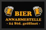 Fußmatte mit Print – Bier Annahmestelle - 25055 - Gr. ca.  60 x 40 cm