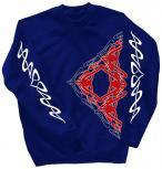 Sweatshirt mit Print - Tattoo - 10118 - versch. farben zur Wahl - Royal / XXL