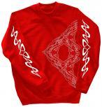 Sweatshirt mit Print - Tattoo - 10118 - versch. farben zur Wahl - Gr. S-XXL