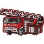 Aufnäher - Feuerwehrauto - 03220 - Gr. ca. 7cm x 5,5cm - Patches Stick Applikation