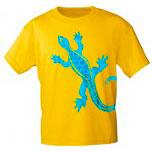 T-Shirt mit Print - Echse - 10487 - versch. Farben zur Wahl - Gr. S-2XL