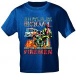 T-Shirt mit Print - Feuerwehr Firemen - 10591 dunkelblau - Gr. S-XXL