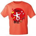 T-Shirt unisex mit Aufdruck - TANZ-WUT - 09383 rot - Gr. S-XXl