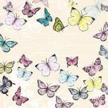 Servietten 20er Set - TISSUE mit Motiv - Schmetterlinge - 33708 Gr. ca. 33x33cm