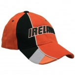 Baumwoll - WM - Cap mit Bestickung - Ireland - 67190 orange schwarz weiss - Cap Kappe Baumwollcap Baseballcap