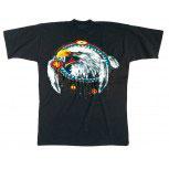 T-Shirt mit Print - Adler Indianerschmuck - 10611 schwarz - Gr. S-XXL