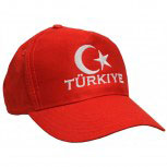Baumwoll - WM - Cap mit Bestickung - Türkiye - Türkei Türkey 67164 rot - Cap Kappe Baumwollcap Baseballcap