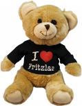 Plüsch - Teddybär mit Shirt - I Love Fritzlar - 27065 - Größe ca 26cm