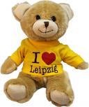 Plüsch - Teddybär mit Shirt - I Love Leipzig - 27073 - Größe ca 26cm