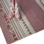 3er-Set Tischdecken Tissue Rosen und Herzen 29659 Gr. ca.  80cm x 80m