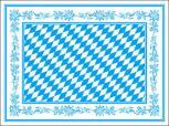 Platzdeckchen 100er Set - Bayern Rautendesign - 29643 - Gr. ca. 40 x 30 cm
