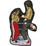 Aufnäher Applikation Stick-Emblem - Boxer Kampfsport - 045+61- Gr. ca. 7cm x 11cm