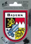 "(301430) Auto-Aufkleber Stick Applikation Emblem Aufkleber ""BAYERN"" NEU Gr. ca. 6,5 x 8cm - Wappen Landeszeichen Flagge"