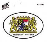 PVC -Aufkleber - Wappen Freistaat Bayern - 301437 - Gr. ca. 7,8 x 5,8 cm