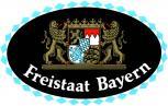 Auto-Aufkleber - Freistaat Bayern - Gr. ca. 13,5 x 8,5cm (301439) Wappen Landeszeichen Flagge