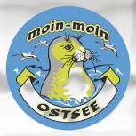 PVC-Aufkleber - moin-moin - Ostsee - Gr. ca. 7,5 cm - 301491