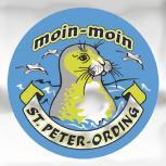 Auto-Aufkleber rund mit Spiegelfolie - moin-moin ST. PETER-ORDING - Gr. ca. 7.5cm (301494) 7,5 cm - 301494