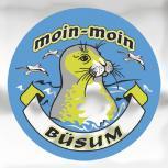 Auto-Aufkleber rund mit Spiegelfolie - moin-moin BÜSUM - 301495 - Gr. ca. 7.5cm