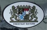 PVC -Aufkleber - Freistaat Bayern und Bayernwappen - 301515 - Gr. ca. 10 x 6,6cm