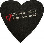 Filz-Untersetzer mit Einstickung - Du bist alles, was ich will - 30225 - Gr. ca. 38 x 38 cm